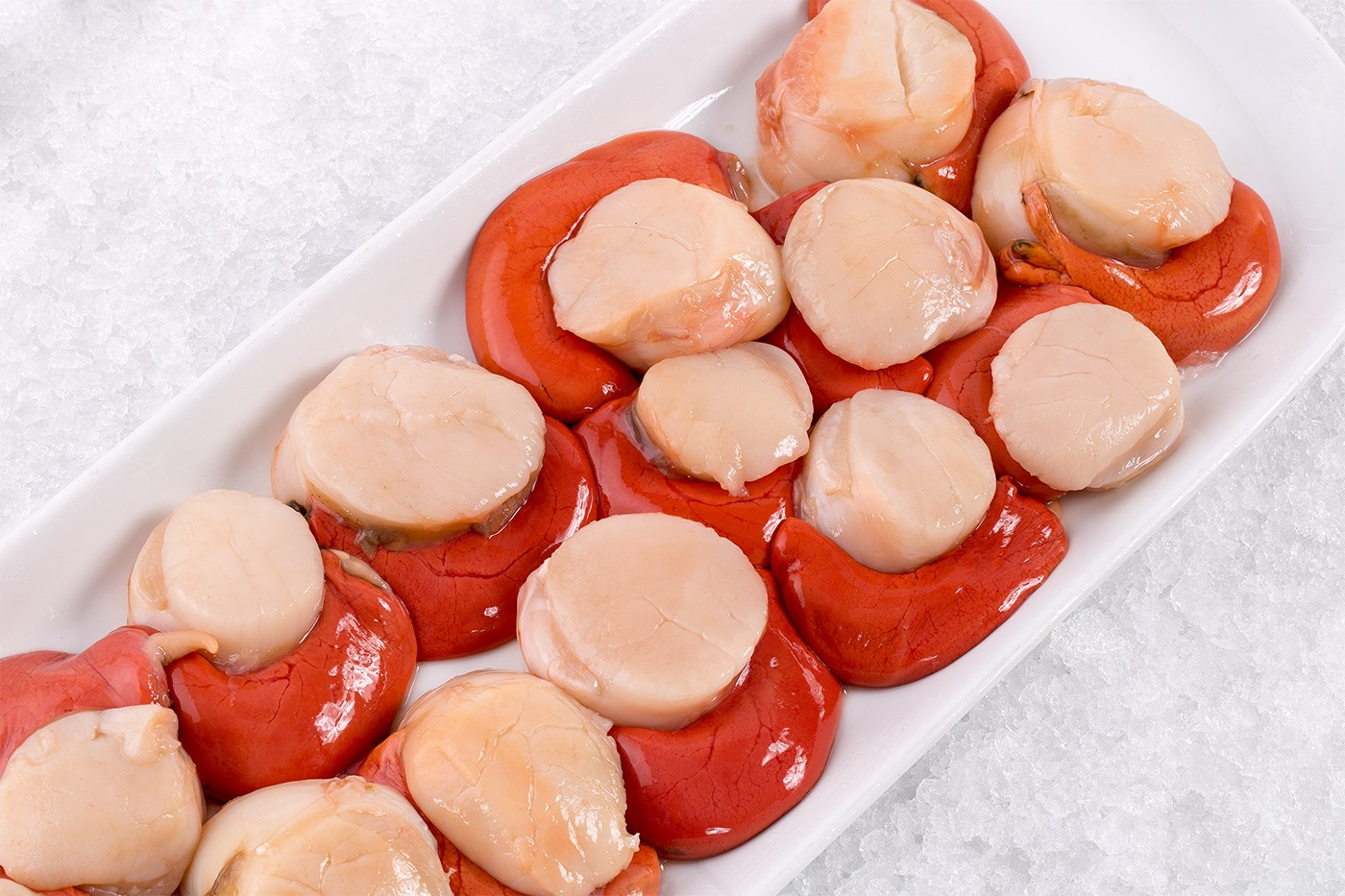 Wild Sea Scallops With Roe